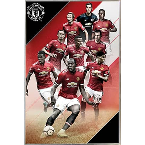 Man UTD Players 17/18 Poster with Choice of Frame (24x36)