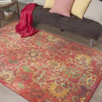 The Curated Nomad Kalesar Geometric Floral Area Rug - 8' x 10'