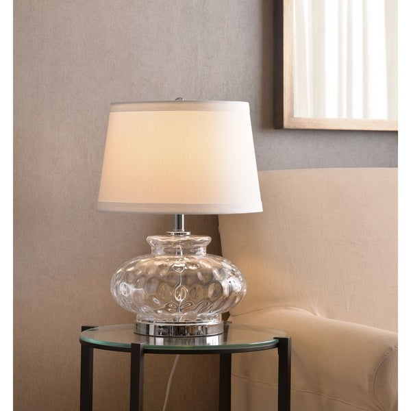 """Jessup 21"""" Table Lamp - Clear Glass"""