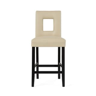 Global Furniture Beige Cut-Out Bar Stool