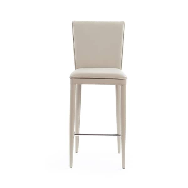Remarkable Shop Global Furniture Taupe Pu Bar Stool With Stainless Machost Co Dining Chair Design Ideas Machostcouk