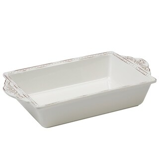 Certified International Terra Nova White 144-ounce Rectangular Baker