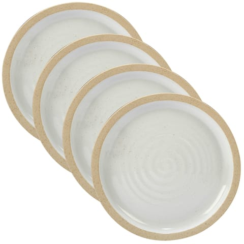 Certified International Artisan White Dinner Plates (Set of 4)