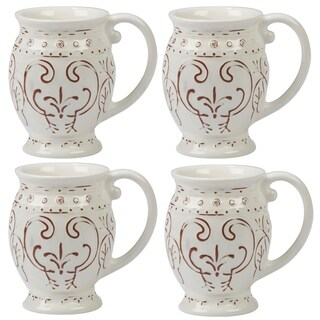 Certified International Terra Nova White 20-ounce Mugs (Set of 4)