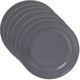 Certified International Orbit Dinner Plates (Set of 6) (Option: Grey)