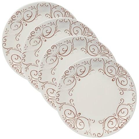 Certified International Terra Nova White Dinner Plates (Set of 4)