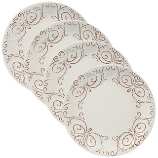 Certified International Terra Nova White Dinner Plates (Set of 4)
