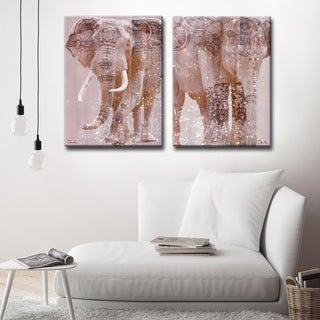 Ready2HangArt 'Wild Zen II-III' 2-Piece Wrapped Canvas Art Set
