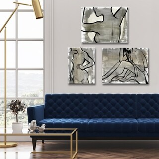 Ready2HangArt 'Nude Scribe I-III' 3-Piece Wrapped Canvas Art Set (3 options available)