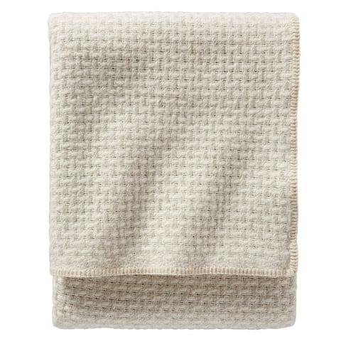 Pendleton Lattice Weave Ivory Twin Blanket
