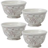Certified International Terra Nova White Ice Cream Bowls (Set of 4)