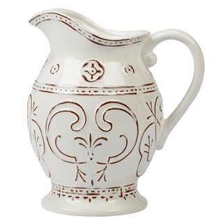 Certified International Terra Nova White 80-ounce Pitcher