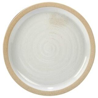 Certified International Artisan White and Natural Round Platter