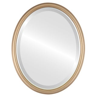 Hamilton Framed Oval Mirror in Desert Gold  Lip - Brown/Dark Gold