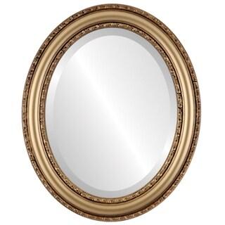 Dorset Framed Oval Mirror in Desert Gold - Brown/Dark Gold