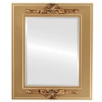 Ramino Framed Rectangle Mirror in Desert Gold - Brown/Dark Gold