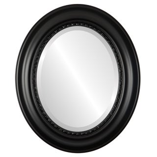 Chicago Framed Oval Mirror in Gloss Black