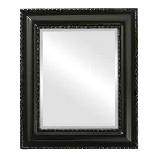 Somerset Framed Rectangle Mirror in Gloss Black