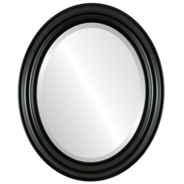 Shop Philadelphia Framed Oval Mirror in Gloss Black - Free Shipping ...