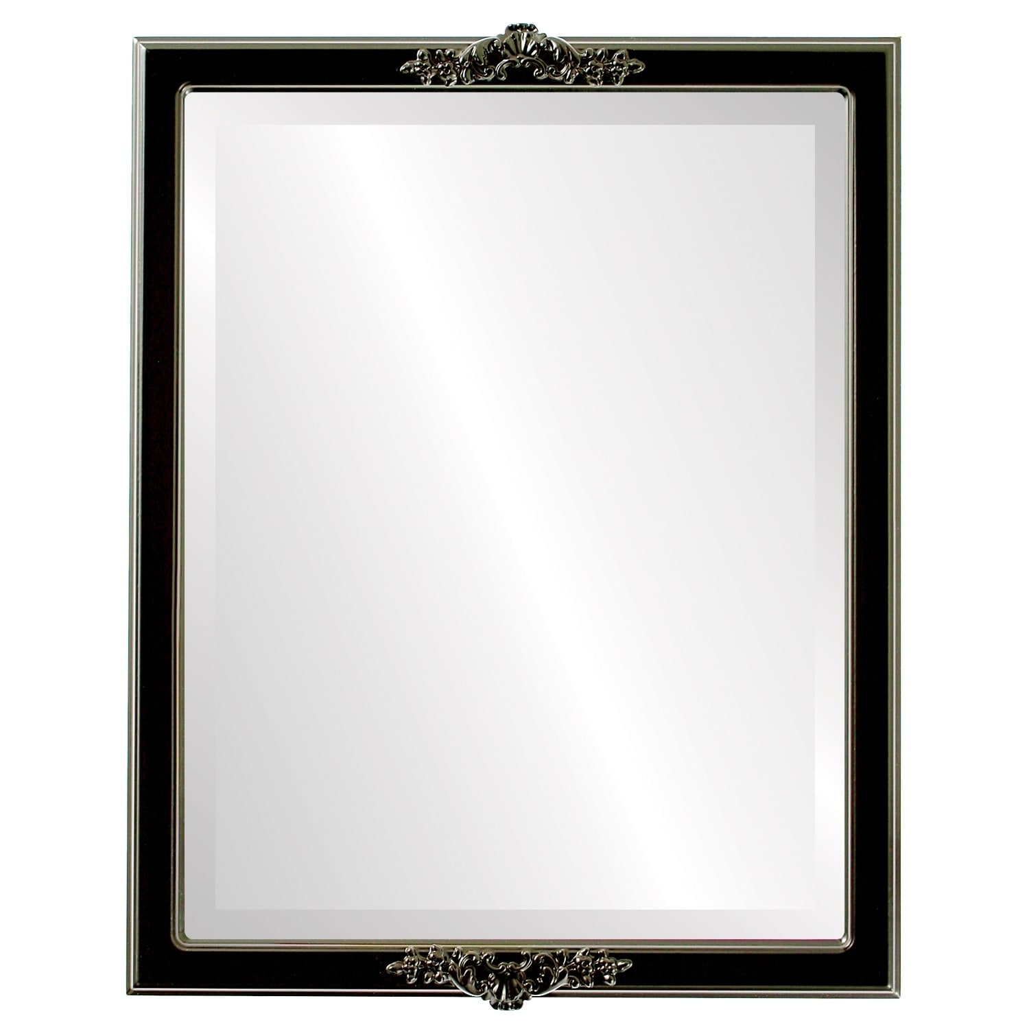 Athena Framed Rectangle Mirror in Gloss Black (13x17)