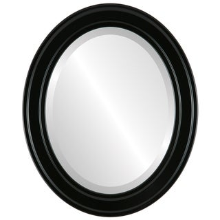Wright Framed Oval Mirror in Gloss Black