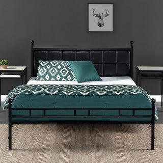 Priage by Zinus H Style Faux Leather Upholstered Bed Frame