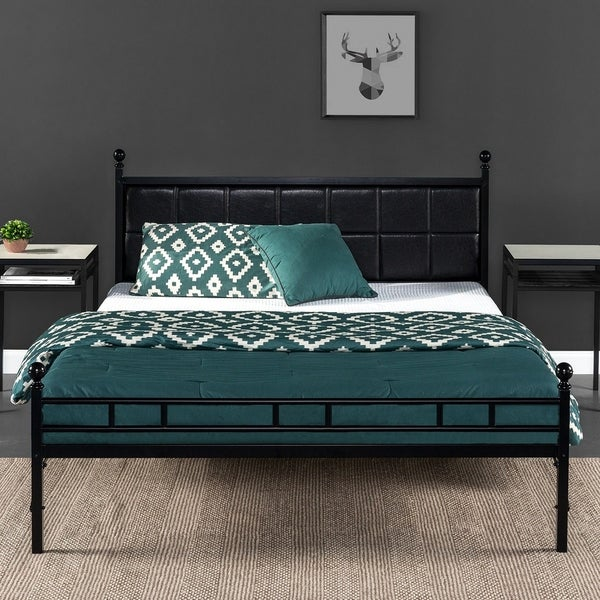 Shop Priage By Zinus H Style Faux Leather Upholstered Bed