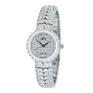 Adee Kaye Womens Rhodium Plated Crystal Watch-Silver tone/Clear
