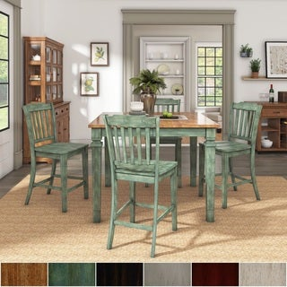 Elena Extendable Counter Height Dining Set with Slat Back Chairs by iNSPIRE Q Classic