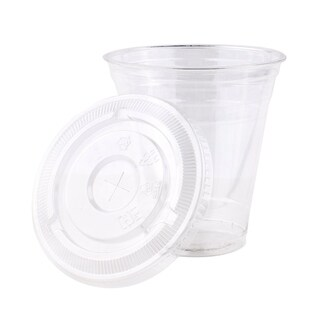 12 oz PET Cups with Lids (200)