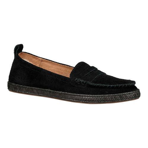 Women's UGG Charlie Penny Loafer Black Suede