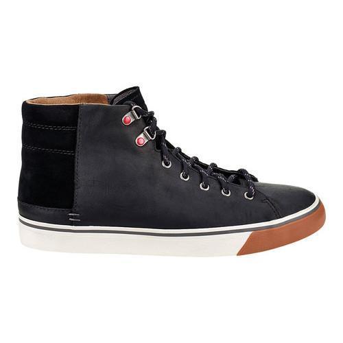 165c45c849a Men's UGG Hoyt High Top Black Leather/Suede