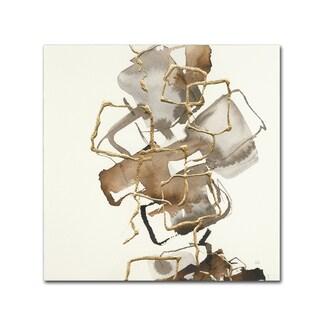 Chris Paschke 'Gold Squares I' Canvas Art