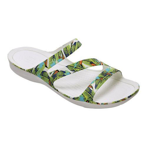 946203a990ca Shop Women s Crocs Swiftwater Graphic Slide Sandal Tropical Volt Green - Free  Shipping On Orders Over  45 - Overstock - 18053687