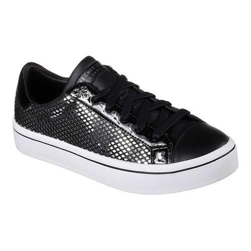 Shop Women s Skechers Hi-Lites Shiny Star Sneaker Black Silver - Free  Shipping Today - Overstock.com - 18053951 c1a8cd7a822a