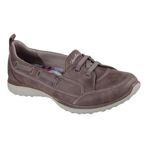 Women's Skechers Microburst Dearest Sneaker Dark Taupe