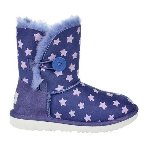 5e10642f1b7 Children's UGG Bailey II Button Stars Ankle Boot Nocturn Twinface