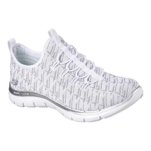a496a7e70f78 Women  x27 s Skechers Flex Appeal 2.0 Insights Walking Sneaker White Silver