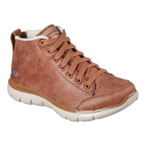 Skechers Flex Appeal 2.0 Warm Wishes Chestnut Brown Ankle Boot