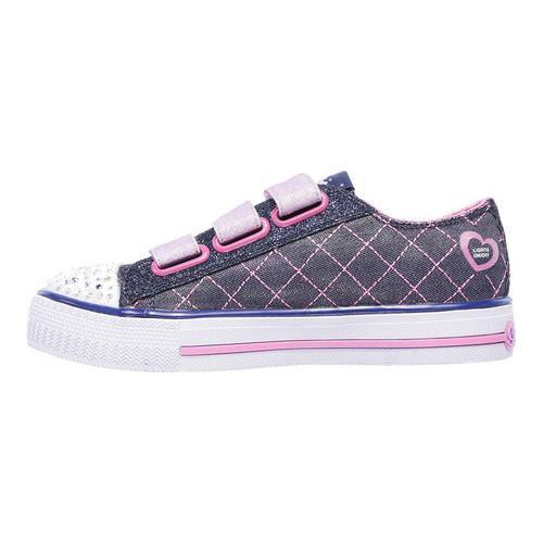 Girls' Skechers Twinkle Toes Shuffles Dazzle Dash Sneaker DenimPink | Shopping The Best Deals on Sneakers