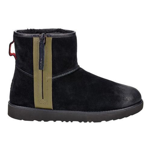 681795159cd Men's UGG Classic Mini Zip Waterproof Boot Black Burnished Suede