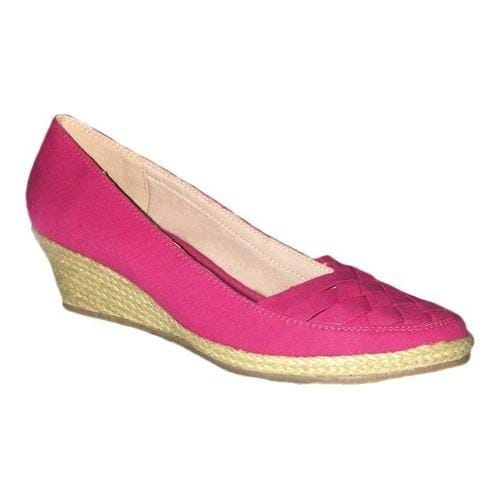 3d192b88187b7d Shop Women s Beacon Shoes Sunport Espadrille Wedge Fuchsia Canvas Fabric -  Free Shipping Today - Overstock - 18085706