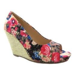Women's Beacon Shoes Joanne Espadrille Wedge Floral Fabric