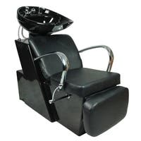 Backwash Ceramic Shampoo Bowl Sink Chair Station Salon Black