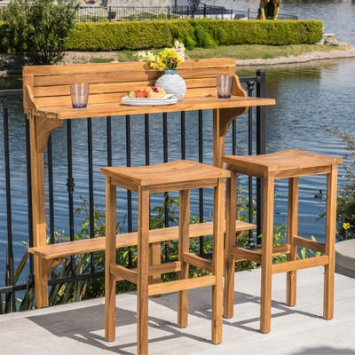 Caribbean Outdoor 3-pc. Balcony Bar Set by Christopher Knight Home