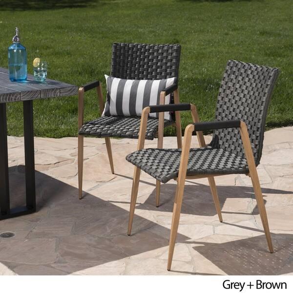 Awesome Shop Rocco Outdoor Wicker Dining Chair Set Of 2 By Inzonedesignstudio Interior Chair Design Inzonedesignstudiocom