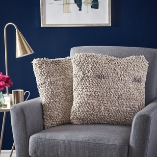Roxanne Square Fabric Pillow (Set of 2) by Christopher Knight Home