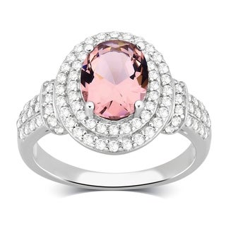 Divina Sterling Silver CZ and Engagement Ring