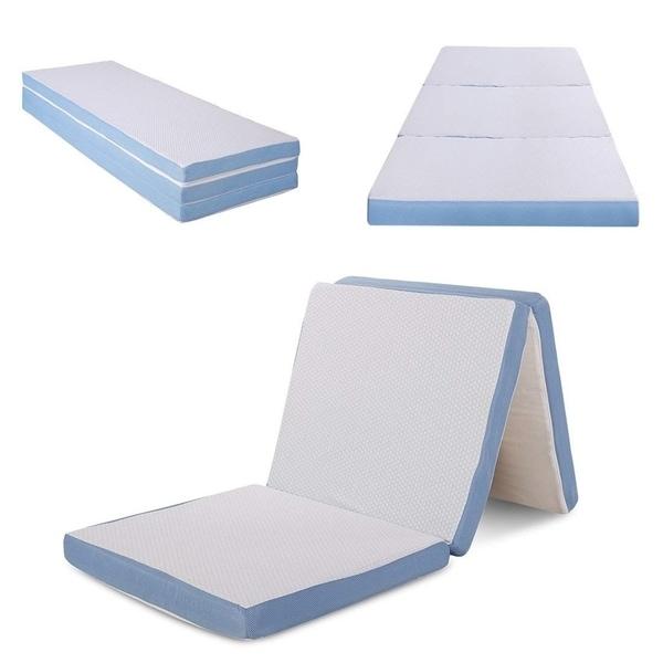 Shop Cr Sleep 3 Inch Tri Folding Memory Foam Mattress With Cover