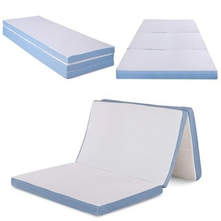 Cr Sleep 3-inch Twin-size Tri-Folding Memory Foam Mattress with Cover